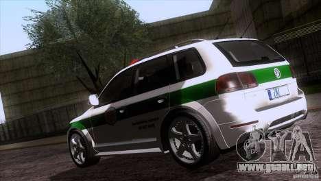 Volkswagen Touareg Policija para vista lateral GTA San Andreas