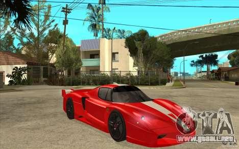 Ferrari FXX 2005 para visión interna GTA San Andreas
