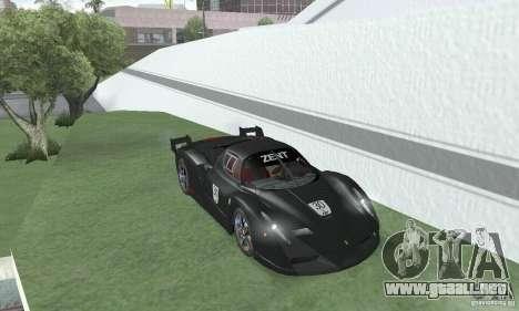 Ferrari FXX para GTA San Andreas vista hacia atrás