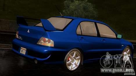 Mitsubishi Lancer Evolution IIIV para la visión correcta GTA San Andreas