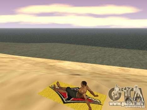 Estera del resto para GTA San Andreas sexta pantalla