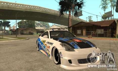 Nissan Z350 - Tuning para GTA San Andreas vista hacia atrás