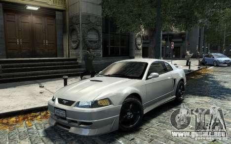 Ford Mustang Cobra R para GTA 4 Vista posterior izquierda