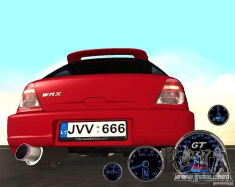 Subaru Impreza Universal para la visión correcta GTA San Andreas