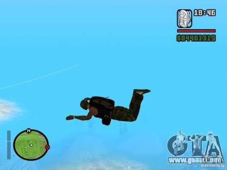 El nuevo paracaídas para GTA San Andreas tercera pantalla