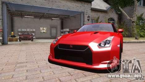 Nissan GTR R35 v1.0 para GTA 4 visión correcta