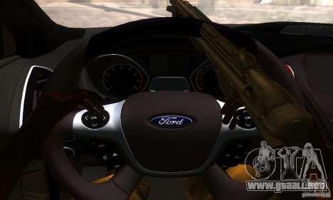 Ford Focus 3 para GTA San Andreas vista hacia atrás