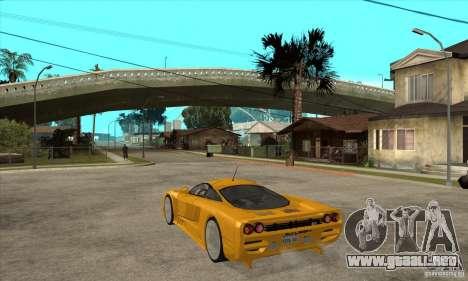 Saleen S7 Twin Turbo para GTA San Andreas vista posterior izquierda