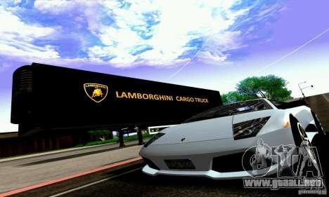 Lamborghini Cargo Truck para visión interna GTA San Andreas