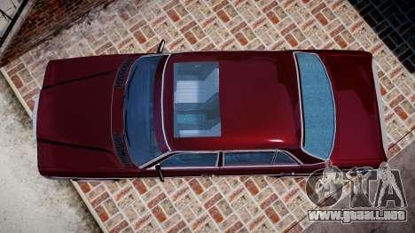 Mercedes-Benz 230E 1976 Tuning para GTA 4 visión correcta