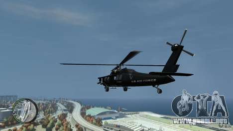 U.S. Air Force (annihilator) para GTA 4 Vista posterior izquierda