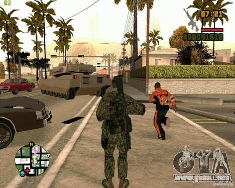 Nuevos soldados para GTA San Andreas tercera pantalla