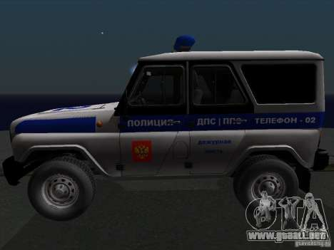 Policía 315195-UAZ Hunter para GTA San Andreas left