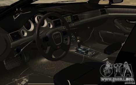 Audi A8l W12 6.0 para vista lateral GTA San Andreas