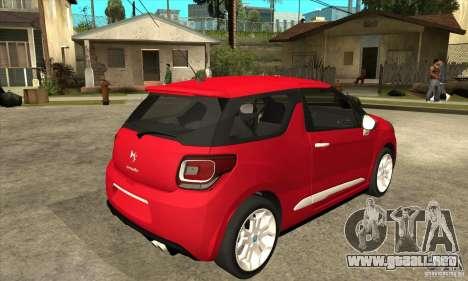 Citroen DS3 2011 para la visión correcta GTA San Andreas