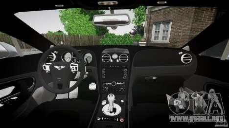 Bentley Continental SuperSports 2010 [EPM] para GTA 4 vista superior