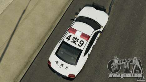 Dodge Charger Japanese Police [ELS] para GTA 4 visión correcta