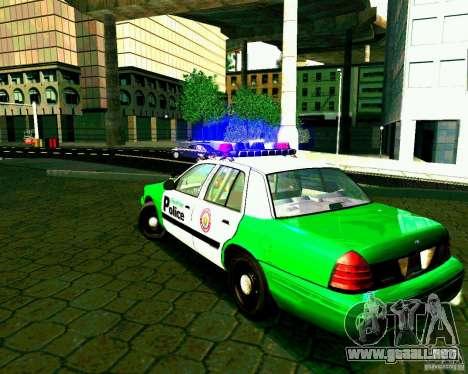 Ford Crown Victoria 2003 Police Interceptor VCPD para GTA San Andreas vista posterior izquierda
