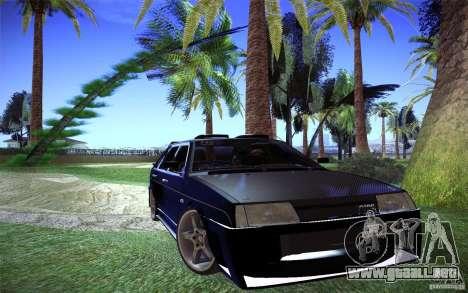 VAZ 2109 carbono para la visión correcta GTA San Andreas