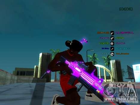 Cromo morado sobre armas para GTA San Andreas quinta pantalla