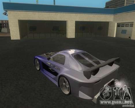 Mazda RX-7 Veilside Fortune para GTA San Andreas vista posterior izquierda