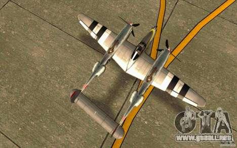 P38 Lightning para la visión correcta GTA San Andreas