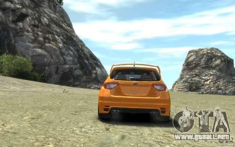 Subaru Impreza WRX STI Hatchback 2008 v.2.0 para GTA 4 visión correcta