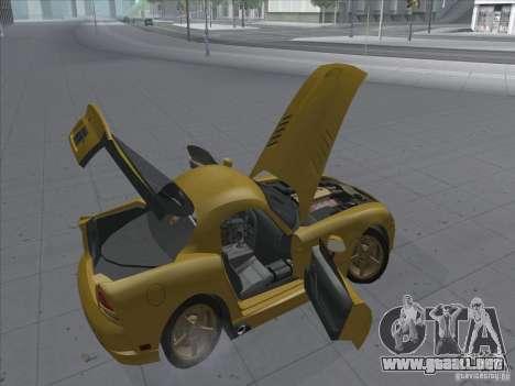 Dodge Viper SRT-10 (víbora de oro) para GTA San Andreas vista hacia atrás
