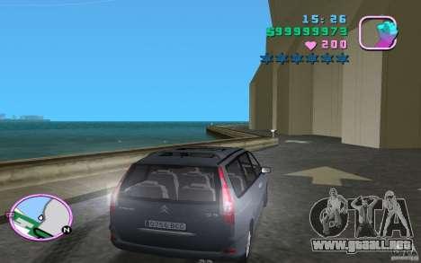 Citroen C8 para GTA Vice City vista lateral izquierdo