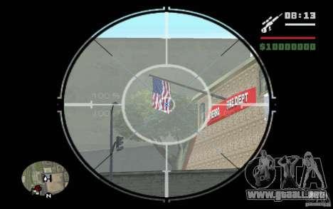 Francotirador v mod 1. para GTA San Andreas segunda pantalla