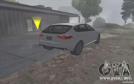 Subaru Impreza-estilo SA para GTA San Andreas vista posterior izquierda