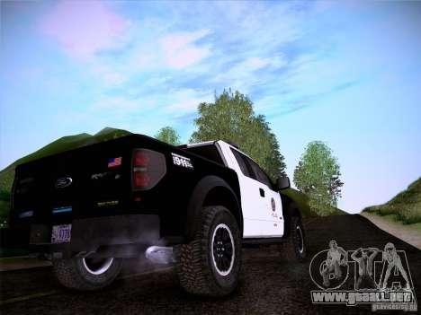 Ford Raptor Police para vista lateral GTA San Andreas