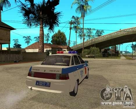 LADA 21103 DPS para GTA San Andreas vista posterior izquierda