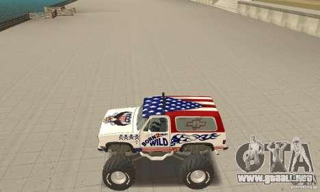 Chevrolet Blazer K5 Monster Skin 7 para GTA San Andreas