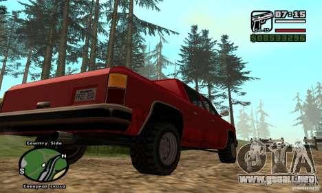Rancher 4 Doors Pick-Up para la visión correcta GTA San Andreas