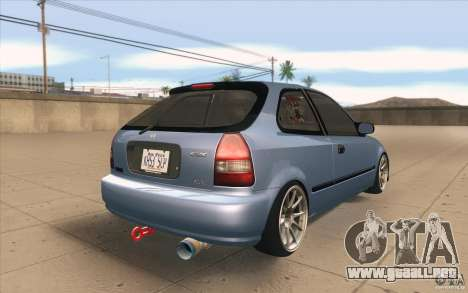 Honda Civic EK9 JDM v1.0 para vista lateral GTA San Andreas