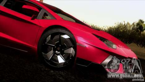 Lamborghini Aventador LP-700 J para GTA San Andreas left