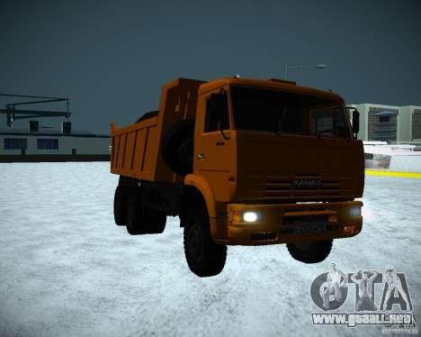 Camión KAMAZ 6520 para GTA San Andreas left