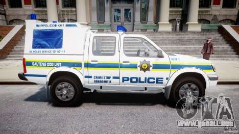 Nissan Frontier Essex Police Unit para GTA 4 vista interior