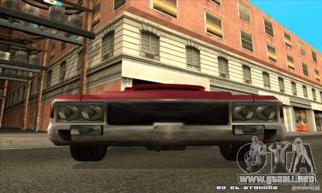 Sabre Drift para GTA San Andreas vista hacia atrás
