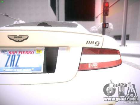 Aston Martn DB9 2008 para la visión correcta GTA San Andreas