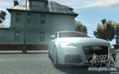Audi TT-RS para GTA 4 vista hacia atrás
