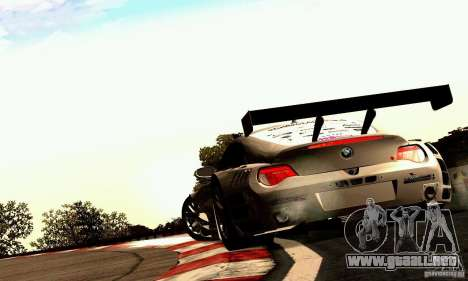 BMW Z4 E85 M GT 2008 V1.0 para la visión correcta GTA San Andreas