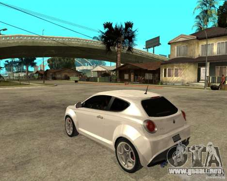 Alfa Romeo Mito para GTA San Andreas left