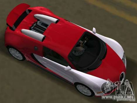 Bugatti Veyron EB 16.4 para GTA Vice City visión correcta