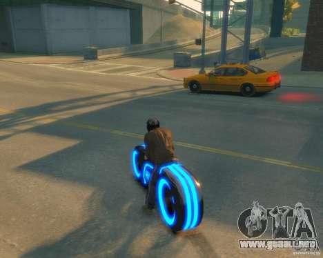 Motocicleta del trono (azul neón) para GTA 4