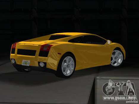 Lamborghini Gallardo para GTA Vice City left