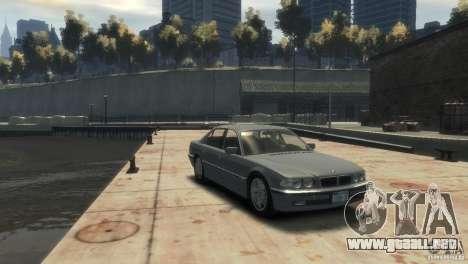 BMW 740i E38 para GTA 4 visión correcta