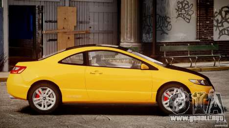 Honda Civic Si Coupe 2006 v1.0 para GTA 4 left