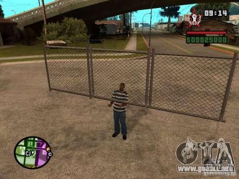 CJ-cleptómano para GTA San Andreas sucesivamente de pantalla